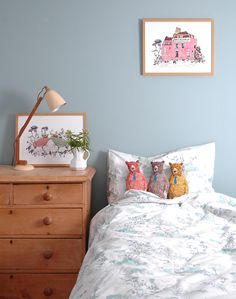 Single Bed Linen Set - Woodlands Blue — Sian Zeng – Imaginative Homeware for Kids and Adults alike