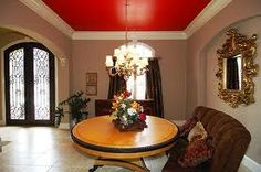 Rich color, red ceiling
