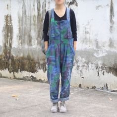 Material : denim Casual loose style Stretch: no stretch Two pockets on Both side Season: Spring autumn M(Fit for EU Waist : 94 cm Hip: Plus Size Pants, Casual Jumpsuit, Loose Sweater, Linen Dresses, Cotton Linen, Jumpsuits, Dressing, Printing, My Style