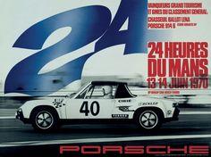 Porsche Le Mans Poster Circa 1970