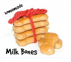 Homemade Dog Treats Milk Bones Healthy Beef by ParkerAndPooch.com