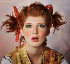 Pippi Longstocking   15 Amazing Halloween Makeup Inspiration!