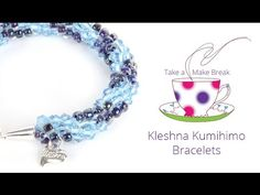 Create a sparkling Kumihimo bracelet with a pretty spiral pattern throughout the braid. The dazzling colour combinations were chosen by Kleshna exclusively f...