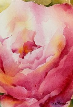 Beautiful! All I have to give by Connie Towns Burr Watercolor ~ 6.75 x 4.75