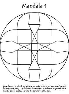 Mandala 1 coloring page