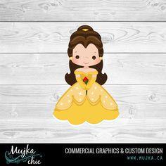 princess-belle-beauty-and-the-beast-clipart. Custom clipart www.mujka.ca