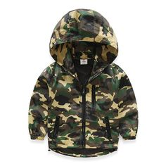 b44d50119534 Children s clothing baby boys clothes kids Camouflage outerwear 2016 spring  long sleeve jacket with a hood top coat-in Jackets   Coats from Mother    Kids on ...