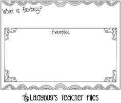 Fantasy Graphic Organizer...great to add to your fantasy folder!
