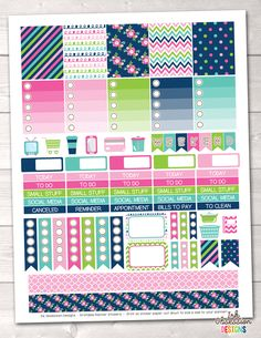 Cheery Day Printable Planner Stickers Weekly Kit – Erin Bradley/Ink Obsession Designs