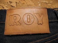 Awesome Roy Denim Leather Patch! #rawdenimmadness