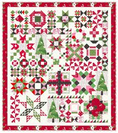 Hello, Everyone! Welcome to Week 1 of the Holly Jolly Block of the Week! I'm so excited to get the fun, weekly, quilty party started!! I... Pineapple Squares, Christopher Thompson, Kaleidoscope Quilt, Peanut Butter Blossoms, Christmas Sewing, Christmas Quilting, Design Basics, Sampler Quilts, Block Of The Month