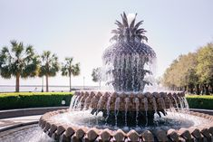 Pineapple Fountain at Waterfront Park in Charleston, SC via Gal Meets Glam