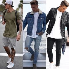 1 2 or 3? What's your favorite look? Via @trillestoutfit Follow @mensfashion_guide for more! By @johnnyedlind #mensfashion_guide #mensguides