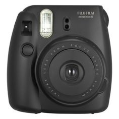 Fujifilm instax mini 8 Instant Film Camera Black ($60) ❤ liked on Polyvore featuring camera, accessories, black, filler and tech
