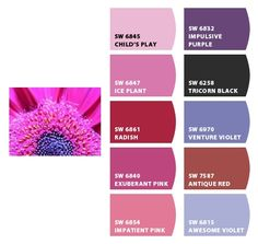 My photo pink petals, on deviant art.  Paint colors from Chip It! by Sherwin-Williams