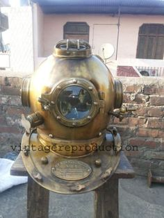 """Antique Scuba SAC Divers Diving Helmet US Navy Mark V Deep Sea Marine Divers18''       Famous Words of Inspiration...""""The argument is at an end.""""   Saint Augustine — Click here for more from Saint... more details available at https://perfect-gifts.bestselleroutlets.com/gifts-for-holidays/water-sports-items/product-review-for-us-navy-scuba-sca-mark-v-divers-diving-heavy-helmet-deep-sea-marine-divers-gift/"""
