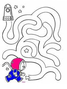 outer space worksheets for kids maze Space Theme Preschool, Space Activities, Preschool Worksheets, Preschool Activities, Space Coloring Pages, Kids Coloring, Maze Worksheet, Outer Space Theme, Mazes For Kids