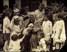 James Whitcomb Riley and children