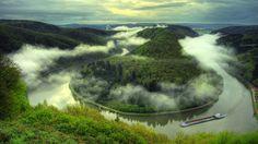 Saarschleife bei Mettlach (river Saar at Mettlach, Germany)