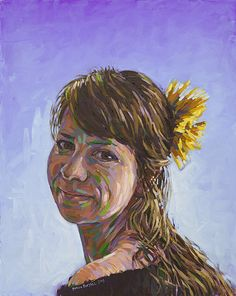 "'My Judith' (portrait of the artist's wife). Painted in oils on 20"" x 16"" canvas by Simon Birtall."