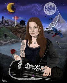 Anna Mona Inis Murphy by LarissaWinze.deviantart.com on @DeviantArt  Anna Murphy fan art (Eluveitie) (Cellar Darling)