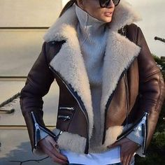 Looks com jaqueta Shearling - Glanz Mode Outfits, Chic Outfits, Fashion Outfits, Womens Fashion, Fashion Trends, Fashion Styles, Fall Winter Outfits, Autumn Winter Fashion, Super Moda