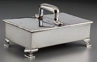 An Asprey & Co. Silver Cigarette Case, Birmingham, England, circa 1907 Marks: (lion passant), (anchor), h&lt...