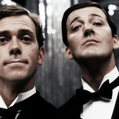 Hugh Laurie & Stephen Fry! Now there's the Jeeves and Wooster I grew up with!
