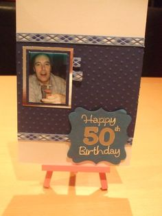 personalised 50th card