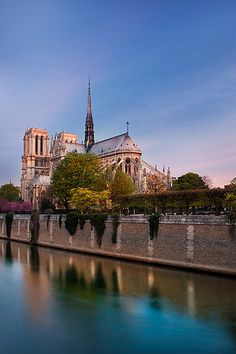 Notre Dame de Paris at Sunrise...I sat by the Seine and wrote postcards one morning.  Flipping over the card, I saw the scene on it and the scene before me were the same, as the scene above.  Ahhh