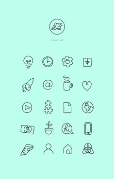 One line - Free Startup icons