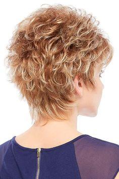 Sheena by Jon Renau Wigs Short Hair With Layers, Short Hair Cuts For Women, Layered Hair, Short Shag Hairstyles, Short Hairstyles For Women, Cool Hairstyles, Braid Hairstyles, Short Curly Hair, Curly Hair Styles