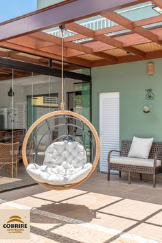 Surprise yourself! Balance in form, perfect expression of contemporary design, sophistication in eve Home Design Decor, House Design, Home Decor, Modern Deck, Contemporary Patio, Porch Decorating, Decorating Your Home, Rooftop Terrace Design, Garden Swing Seat