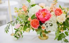 Matching your bold colour choices with an elaborate floral arrangement, plus that statement greenery all over your venue/invitations/cake/centrepieces/whatever else you can think of will perfectly match the 2017 wedding trends