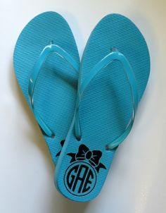 ad84c59bb DIY Personalized Flip Flops with Heat Transfer and a Flat Iron! Silhouette  Vinyl