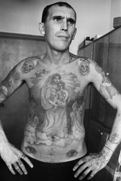 Custom Tattoos Of Russia's Criminals & Prisoners By Sergei Vasiliev