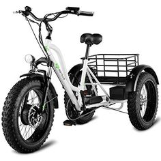 Goplus Electric Trike Fat Tire Electric Tricycle for Adults Lithium Battery Electric Bike Front and Rear Disc-brake with LCD Display 3 Wheel Electric Bike, Electric Tricycle, Electric Mountain Bike, Electric Scooter, Electric Cars, Velo Tricycle, Adult Tricycle, Motorized Tricycle, Trike Bicycle