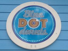 The clever logo only adds to the appeal of Blue Dot. Maple bacon long John, Bread pudding donut with white chocolate sauce, red velvet donut.....yes please !!