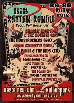 BIG RHYTHM RUMBLE Rock'n'Roll Weekender: 11. - 13. Juli 2014. Ulm (Germany)