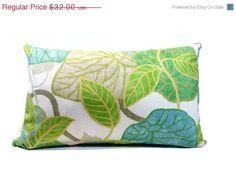 SALE Leaf pillowtropicalpillow lime green by JoJosArtisticDesign