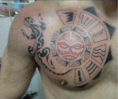 tattoo maori pecho
