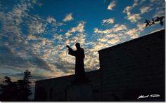 Mosaic of clouds above Saint Charbel Annaya, Mount Lebanon St Charbel, Mount Lebanon, Poster Pictures, Mosaic, Saints, Louvre, Clouds, Art Prints, Sunset