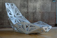 The contour of the Body Chair is inspired by ONL's design for the Space Xperience Centre in Curacao, which is… Industrial Design Furniture, Industrial Design Sketch, Furniture Design, Folding Furniture, Steel Furniture, Cool Furniture, Tole Pliée, Digital Fabrication, Futuristic Furniture