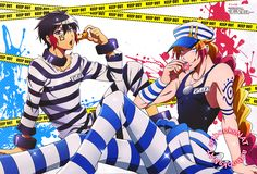 Nanbaka (ナンバカ)Juugo and Uno nibble politely on pastries in this vibrant poster from the latest issue of Otomedia+ AUTUMN Magazine (Amazon JP | eBay), once again illustrated by key animator Naho Kozono (小園菜穂)!