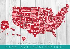 Download FREE 51 States SVG, PNG, DXF & EPS file for your DIY project. Files compatible with Cricut, Cameo Silhouette Studio!