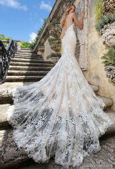 ashley justin spring 2018 bridal strapless sweetheart neckline full embellishment elegant ivory color mermaid wedding dress open back royal train (3) bv -- Ashley