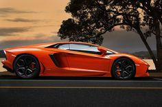 Seductive orange Lambo Aventador. Click on the image to check it out! #AutoArt #SupercarSunday #spon