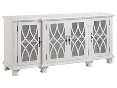 Stein World Anastasia Cabinet, 13244, avail from Kemptville Interiors 613-258-9333. 4 Door White Cabinet.