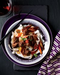 fusion food: asian beef stew with basil + hot chiles