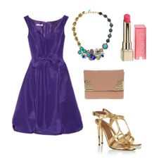 Gorgeous purple Oscar de la Renta dress in this entry for the It's a Date fashion mission #style #fashion #contest